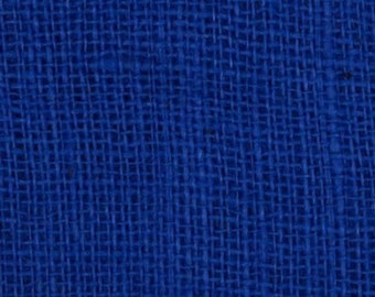 "47""- 48"" Inch Ecliptic Blue Colored Burlap By The Yard"