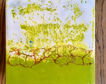 original encaustic painting- a little lime