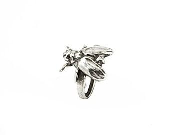 Cicada ring, Polished Silver, cicada ring, cicada insect ring, silver ring, silver animal ring