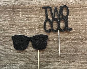 Two Cool Cupcake Toppers| Two Cool Party Decor| Two Cool Toppers| Two Cool Birthday| Two Cool Ideas
