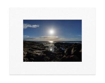 "Rising Sun at Lamberton 12""x8"" Print with Window Mount"