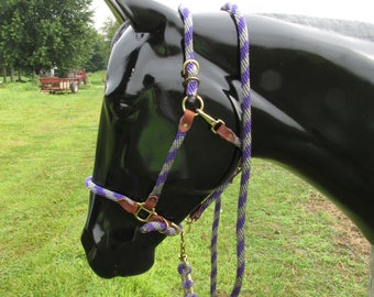 purple /silver lead rope and break away rope halter