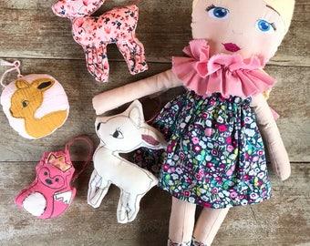 Nina doll fabric doll rag doll