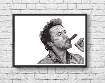 Art-Poster 50 x 70 cm - Limited Edition 50 ex. - Robert Downey Jr. Portrait