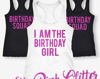 I'm Birthday Girl Shirts, I'm Birthday Girl Tank Tops, Squad Tank Tops, Birthday Girl, Birthday Girl T-Shirt, Women's Birthday Tank Top