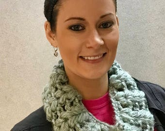 Hand Crocheted Cowl Neck Scarf