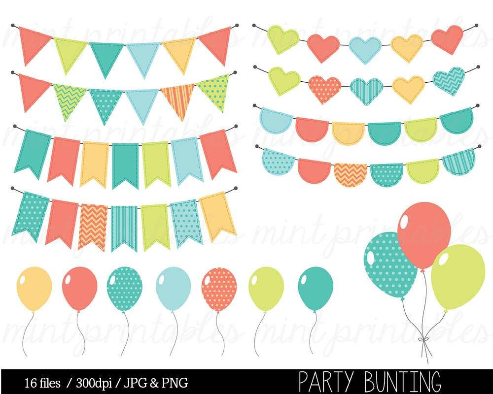 Bunting Clipart Clip Art Birthday Clipart Balloon Clipart