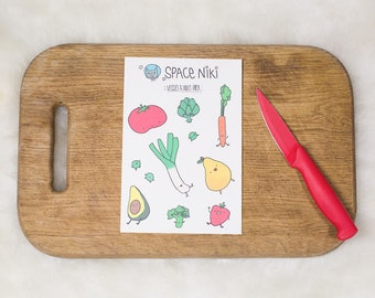 Fruits and Vegetables Stickers Pack