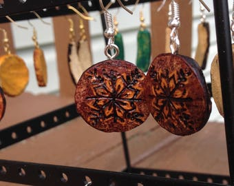 compass flower, gourd jewelry