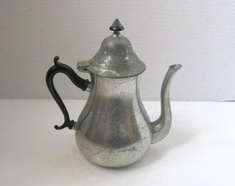 Vintage Royal Holland Shabby Pewter Teapot Coffee pot Farmhouse Decor