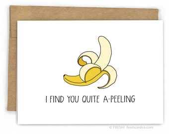 Love Cards - Valentine Card - Pun Cards - A-Peeling Banana by Fresh Card Co