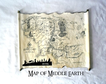 lord of the rings map middle earth map the hobbit map on handmade scroll map of