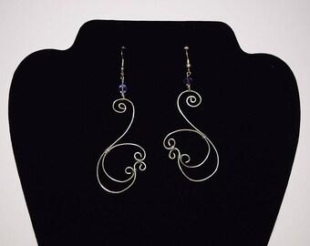 Swan Wire Earrings