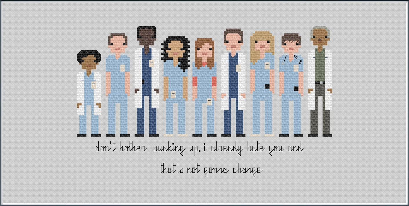 8-Bit Wonder Grey\'s Anatomy Series 1 PDF Cross-Stitch