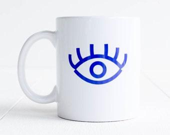 Mug oeil / bleu / céramique
