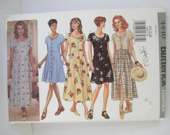 Vintage 2001 Butterick dress Paper Pattern uncut used Size Xs-S-M USA 4440