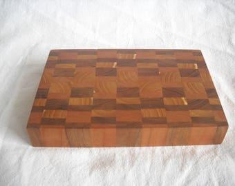 End Grain Wooden Cutting Board