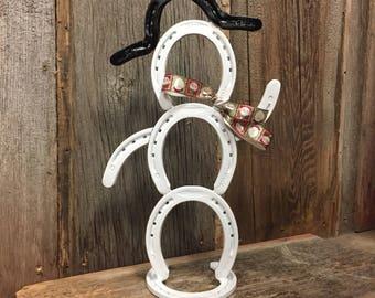 Horseshoe Art Horseshoe Snowman