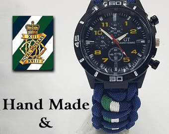 13th-18th Royal Hussars Paracord Watch