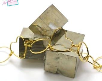 """gorgeous chain 50 cm """"round-heart"""", Golden 03"""