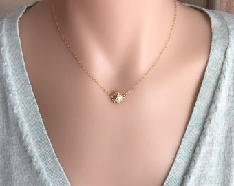 14K Gold Filled Sand Dollar Necklace, Lucky Necklace, Everyday Necklace, Gift To Her, Dainty, Delicate Necklace, Gold Necklace, Minimalist
