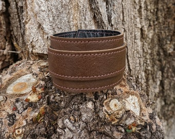 Brown leather strap. wrist strength; Bracelet of strength; Brown Leather Bracelet (18/35)
