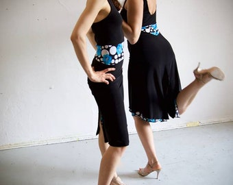 Bleu & Lamalisa Tango robe modèle Jasmin noir