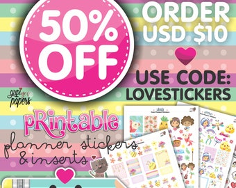 Stickers Sale, Coupon Code, Please DON'T Purchase this Listing, Coupon Code Stickers, Discount Coupon Codes, Printable Planner Stickers
