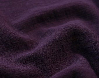 Soft Linen Cotton Gauze Fabric Purple MJ1764