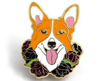 Corgi Enamel Pin, Dog Enamel Pins, Corgi Lover Gift, Welsh Corgi, Dog Hard Enamel Pin, Gift for Dog Lover, Gift for Corgi Lover, Welsh Corgi