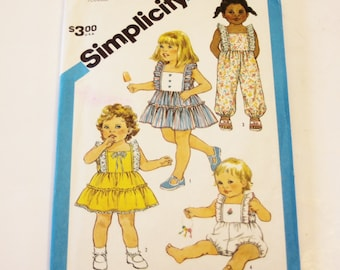 Simplicity 6476: Toddler's Jumpsuit or Romper and Sundress Size 3 UNCUT