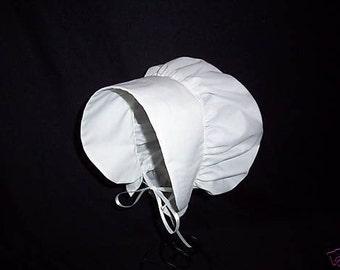 Colonial Bonnet Women's Hat Bonnet or Mob Hat Colors Available