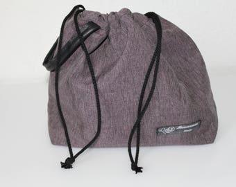 Drawstring projectbag, medium size, 2-3 skeins.