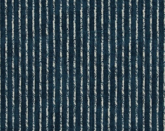 Skyfall Navy cotton fabric by the yard stripe Magnolia Home Fashions