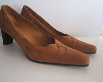 Vintage 90s Lorbac pumps shoes leather 39