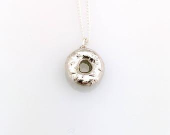 Donut Pendant Necklace