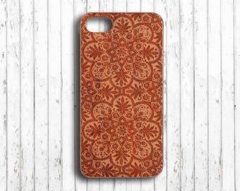 Mandala  iphone 6 case flower iphone 7 plus case wood  iphone 6s wood case wood  iphone 6s plus case  iphone 6 case bamboo