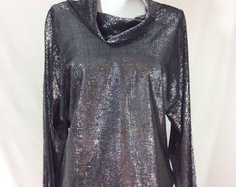 Womens Metallic Mesh Cowl Neck Knight's Armor Costume Tunic size M