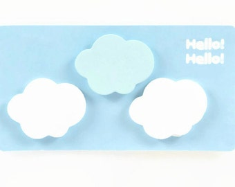 CLOUD STICKY NOTES - 3 Pads of Cloud Sticky Notes  (3.5cm x 2.5cm)
