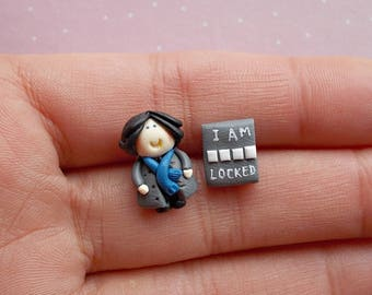 Movie Earrings - Bookworm for her - Book Earrings - Book Studs - Book Lover Gift - Book Jewellery - Mothers Day Gift