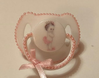 Vintage baby girl  magnetic reborn doll dummy pacifier