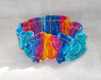 COLORFUL VIBES (Scrunchie) Dog/Cat Collar Cover Medium