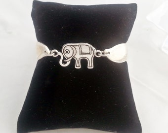 Elephant Spoon bracelet, Alabama, Roll Tide, Springtime pattern 1957, Mother's day, ready to ship, free shipping and gift box