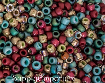 Exclusive Toho 8/0 Victorian Seed Bead Mix 3492, Exclusive to SupplyEmporium,Victorian 8/0 Toho Seed Bead Mix, 15 Grams