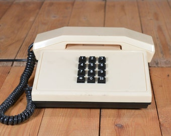 Working telephone - Push button phone - Office telephone - Resprom phone - Retro phone - TA 920 - Vintage desk phone - Old phone