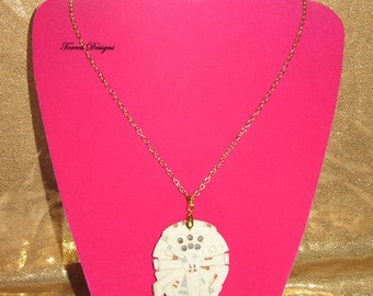 Custom made Star Wars Millennium Falcon Gold Chain Necklace Pendant by TorresDesigns