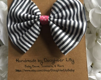 Striped Fabric Bow