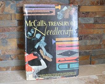 McCall's Treasury of Needlecraft first edition - 1955 McCall's craft book - hardcover McCall's craft book - vintage needlework book