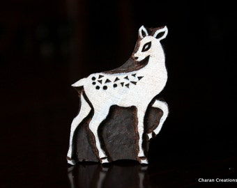Pottery Stamps, Indian Wood Stamp, Textile Stamp, Wood Blocks, Tjaps, Printing Stamp-Deer/Doe