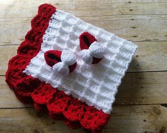 Baby Blanket, Crochet Baby Blanket, Baby Shower Gift, Nursery Blanket, Travel Stroller Car Seat Blanket, Baby Afghan, Waffle Stitch Blanket